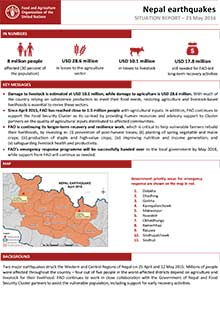 Nepal earthquakes - Situation report 23 May 2016