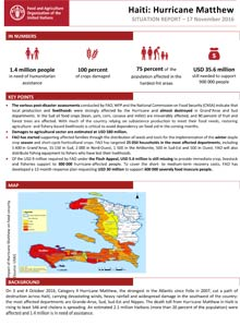Haiti: Hurricane Matthew - Situation report 17 November 2016