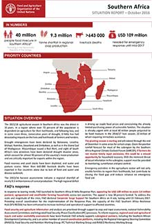 Southern Africa - Situation report October 2016