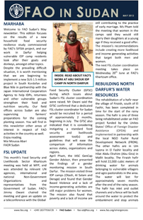FAO Sudan Monthly Newsletter - May 2012