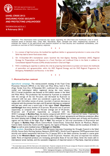 Sahel crisis 2012: ensuring food security and protecting livelihoods, 6 February 2012