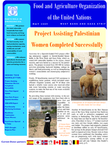 FAO West Bank and Gaza Strip Newsletter - May 2009