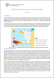 FAO's three-month response plan to Hurricane Matthew in Haiti
