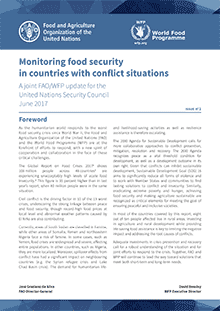 Monitoring food security in countries with conflict situations: A joint FAO/WFP update for the United Nations Security Council (June 2017)