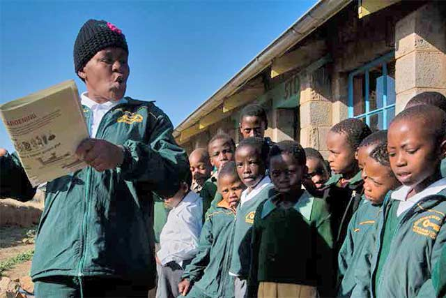 Complementing social protection benefits in Lesotho