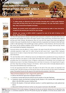 Food security and humanitarian implications in West Africa and the Sahel - FAO/WFP Joint Note, March - April 2016