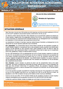 Madagascar – Locust Situation bulletin N. 25 – March 2016 (in FRENCH)