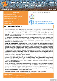 Madagascar – Locust Situation bulletin N. 27 – May 2016 (in FRENCH)
