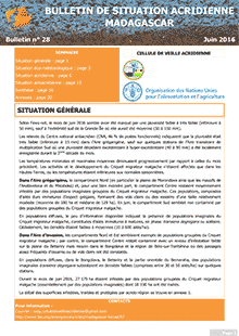 Madagascar – Locust Situation bulletin N. 28 – June 2016 (in FRENCH)