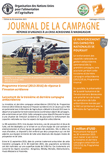 Madagascar Locust Crisis - Campaign Newsletter - 30 November 2015 (in FRENCH)