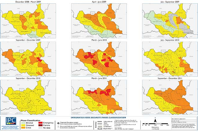 IPC Map Of South Sudan Trends To FAO In Emergencies - Sudan map download