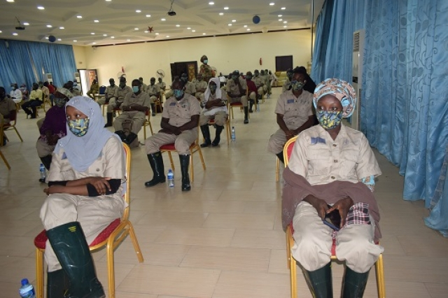 A cross section of female participants at the Training.