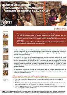 Food Security and humanitarian implications in West Africa and the Sahel - FAO/WFP Joint Note, January 2014
