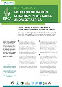 Food and nutrition situation in the Sahel and West Africa