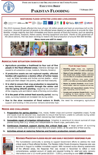 Pakistan Floods 2010 - Executive Brief 7 February 2011