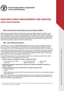 Resilience Index Measurement and Analysis (RIMA) - Short questionnaire