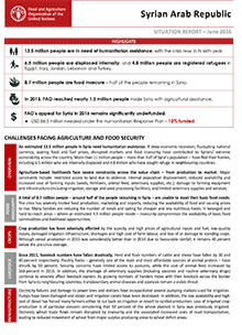 Syria Crisis - Situation report June 2016