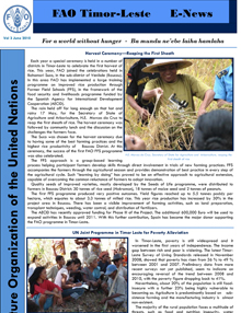 FAO Timor-Leste: E-news, Vol. 3, June 2010