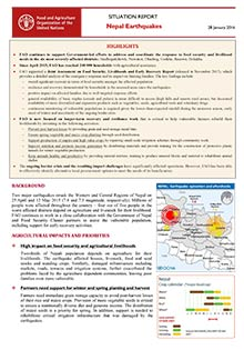 Nepal earthquakes - Situation report 28 January 2016