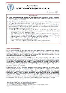 West Bank and Gaza Strip - Executive Brief 21 November 2012