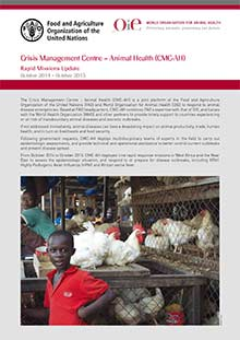 Rapid Missions Update October 2014 - October 2015 - Crisis Management Centre - Animal Health (CMC-AH)