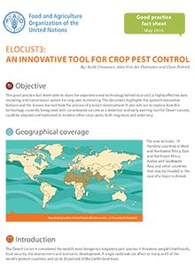 eLocust3: An innovative tool for crop pest control