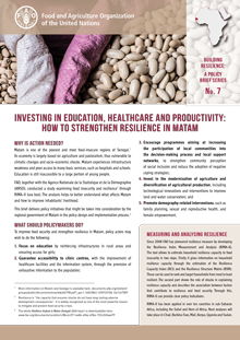 Investing in education, healthcare and productivity: how to strengthen resilience in Matam