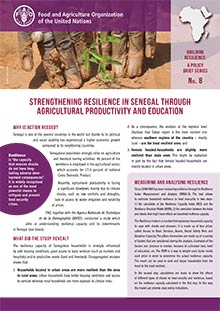 Strengthening resilience in Senegal through agricultural productivity and education