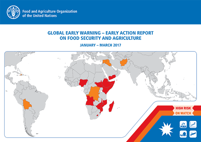 Early Warning Early Action report on food security and agriculture January – March 2017