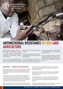 Antimicrobial resistance in food and agriculture