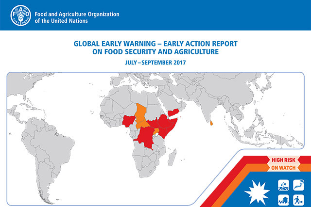 Early Warning Early Action report on food security and agriculture July – September 2017