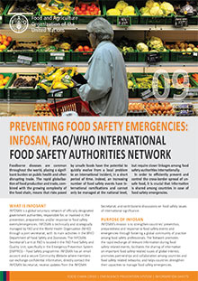 Preventing Food Safety emergencies: INFOSAN, FAO/WHO International Food Safety Authorities Network