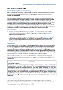 AAP Fact Sheet Committment 5: Design Monitoring Evaluation and Learning