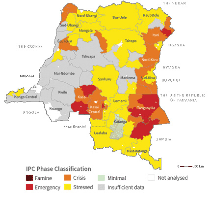 Acute food insecurity in the Democratic Republic of the Congo (August 2018)