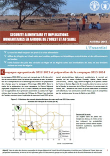 Food Security and humanitarian implications in West Africa and the Sahel - FAO/WFP Joint Note, April-May 2013 (in FRENCH)