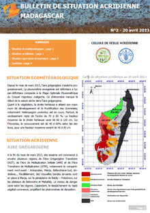Madagascar - Locust Situation Bulletin N. 2 - April 2013 (in FRENCH)