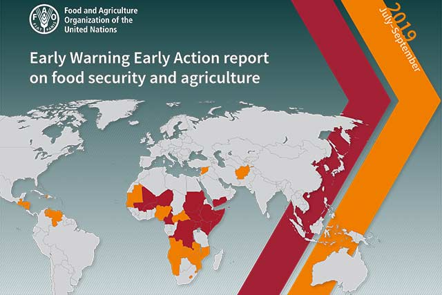 Early Warning Early Action report on food security and agriculture July – September 2019