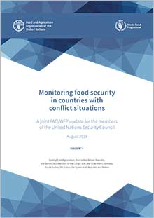 Monitoring food security in countries with conflict situations (Issue No.6 - August 2019)
