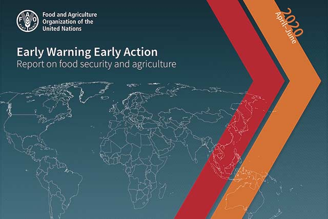 Early Warning Early Action report on food security and agriculture April – June 2020