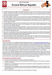 Central African Republic - Executive brief 9 May 2014