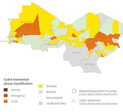 Cadre Harmonisé analysis of the Sahel
