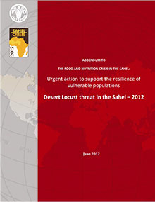 Urgent action to support the resilience of vulnerable populations - Desert Locust threat in the Sahel-June 2012