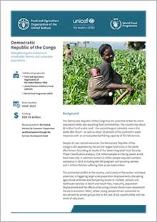 Democratic Republic of the Congo - Strengthening the resilience of smallholder farmers and vulnerable populations