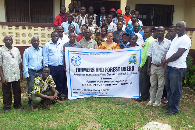 Social mobilization: 2 400 rural people to benefit from anti-Ebola messages and hygiene kits in Liberia