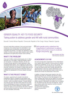 Gender equality: key to food security