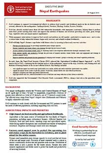 Nepal earthquakes - Executive brief 25 August 2015