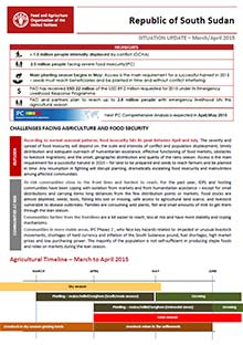 South Sudan - Situation update March/April 2015