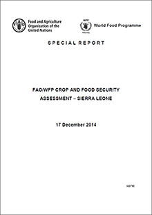FAO/WFP Crop and Food Security Assessment Sierra Leone, 17 December 2014