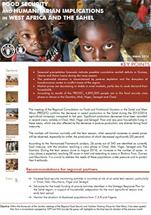 Food Security and humanitarian implications in West Africa and the Sahel - FAO/WFP Joint Note, March 2014
