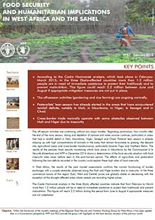 Food Security and humanitarian implications in West Africa and the Sahel - FAO/WFP Joint Note, February 2015